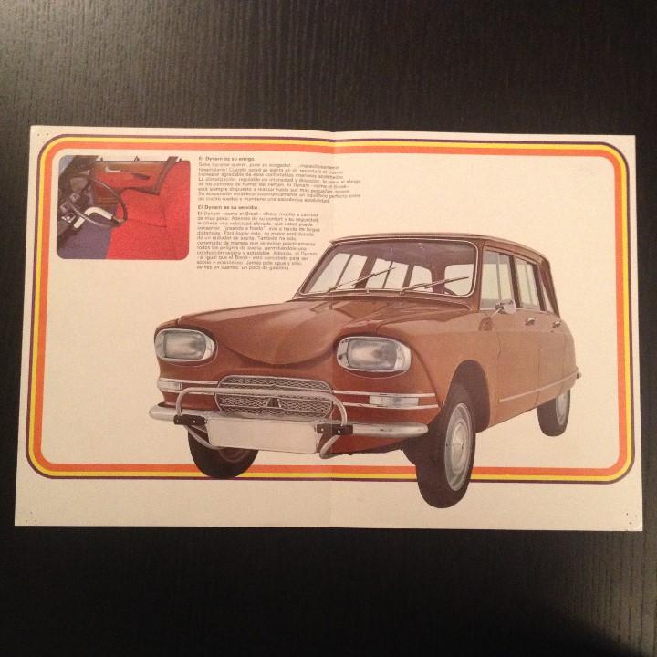 Coches y Motocicletas: CITROEN DYNAM BREAK - CATALOGO PUBLICIDAD ORIGINAL FOLLETO - ESPAÑOL 1971 - Foto 2 - 105625143