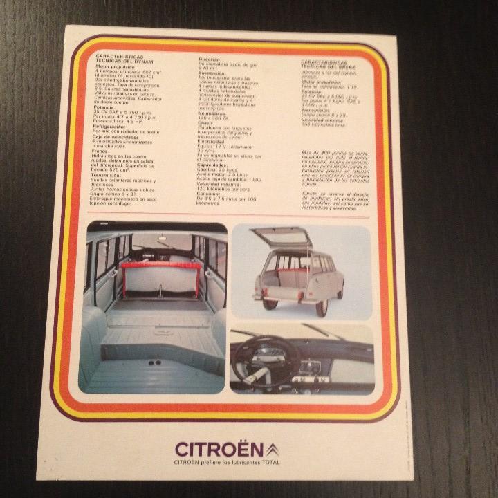 Coches y Motocicletas: CITROEN DYNAM BREAK - CATALOGO PUBLICIDAD ORIGINAL FOLLETO - ESPAÑOL 1971 - Foto 4 - 105625143
