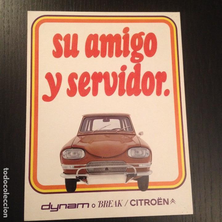 CITROEN DYNAM BREAK - CATALOGO PUBLICIDAD ORIGINAL FOLLETO - ESPAÑOL 1971 (Coches y Motocicletas Antiguas y Clásicas - Catálogos, Publicidad y Libros de mecánica)