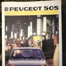 Coches y Motocicletas: CATALOGO DE PEUGEOT 505. COCHE.. Lote 105736435