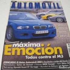 Coches y Motocicletas: AUTOMOVIL 2001: CHEVROLET CORVETTE; AUDI RS4; PORSCHE 911 GT3; BMW M3: VOLVO S60 T5; ETC.... Lote 105772219