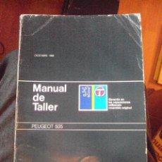 Coches y Motocicletas: MANUAL DE TALLER PEUGEOT 505 1988 MANUAL DE TALLER PEUGEOT 505 1988 (379 PÁGINAS) ILUSTRADO. Lote 106617883