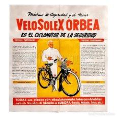 Coches y Motocicletas: CATALOGO DESPLEGABLE PUBLICITARIO CICLOMOTOR VELOSOLEX ORBEA. Lote 162014837