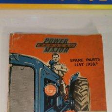 Coches y Motocicletas: LIBRO MECANICA TRACTOR POWER FORDSON MAJOR 1952/1958. Lote 106628179