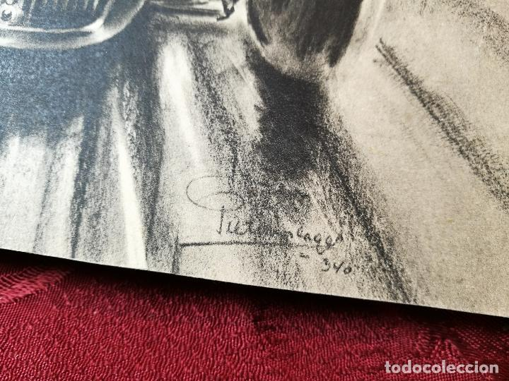 Coches y Motocicletas: CARTEL ORIGINAL PUBLICITARIO AÑOS 50 AUTOMOVILES LAGO PARIS...DESPUES FUE TALBOT - Foto 5 - 106950183