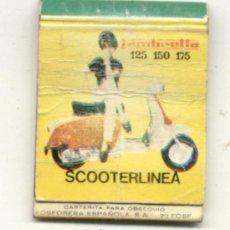 Coches y Motocicletas: CAJA DE CERILLAS /// LAMBRETTA / 125-150-175 SCOOTERLINEA. Lote 107113759
