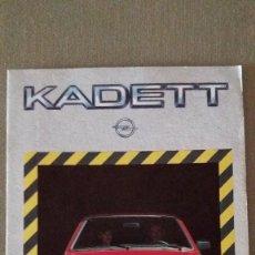 Coches y Motocicletas: CATÁLOGO OPEL KADETT AÑO 1.984.. Lote 107443687