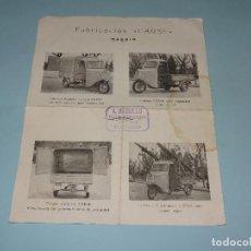Coches y Motocicletas: ANTIGUO FOLLETO CATÁLOGO DEL MOTOCARRO DE FABRICACIÓN *CARSE* EN MADRID - AÑO 1960S.. Lote 107805651