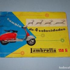 Coches y Motocicletas: ANTIGUO CATÁLOGO DEL SCOOTER *LAMBRETTA 150 LI * CAMBIO 4 VELOCIDADES DE SERVETA S.A. - AÑO 1960S. Lote 107806387