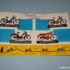Coches y Motocicletas: ANTIGUO CATÁLOGO MOTOCICLETAS *TERROT VL2 49 CC.* MODELOS LUJO, GRAN LUJO, SPORT, STANDAR - AÑO 1961. Lote 107806991