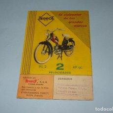 Coches y Motocicletas: ANTIGUO CATÁLOGO CICLOMOTORES TERROT - ACONSEJA A LOS USUARIOS DE CICLOMOTORES MOTOCICLETAS SCOOTERS. Lote 107807759