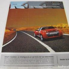Coches y Motocicletas: SMART ROADSTER: ANUNCIO PUBLICIDAD 2003. Lote 108017615