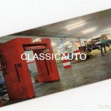 Coches y Motocicletas: TARJETA REVISION ESTACION SERVICIO GARAJE GOES BARCELONA TALLER FOTO COCHE SEAT. Lote 109245359