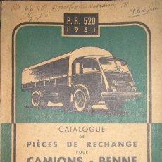 Coches y Motocicletas: CATÁLOGO ORIGINAL DE RECAMBIOS PARA CAMIONES RENAULT DE 1951.. Lote 109383659