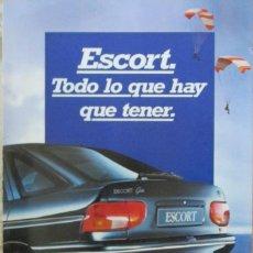 Coches y Motocicletas: TRIPTICO CATALOGO FORD ESCOT GHIA. TODO LO QUE HAY QUE TENER. Lote 109762067