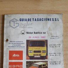 Coches y Motocicletas: CATALOGO COCHES - CAMIONES - AVIA EBRO - VER FOTOS ADICIONALES. Lote 110141215