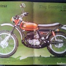 Coches y Motocicletas: CARTEL DIN A3 DE MONTESA KING SCORPION 250 AUTOMIX. Lote 110571891
