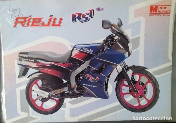 FOLLETO CICLOMOTOR RIEJU RS1 (Coches y Motocicletas Antiguas y Clásicas - Catálogos, Publicidad y Libros de mecánica)