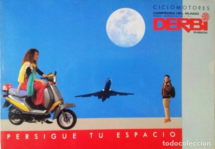 FOLLETO CATÁLOGO (BROCHURE) CICLOMOTORES DERBI (Coches y Motocicletas Antiguas y Clásicas - Catálogos, Publicidad y Libros de mecánica)