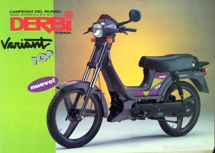 FOLLETO (BROCHURE) DERBI VARIANT TOP (Coches y Motocicletas Antiguas y Clásicas - Catálogos, Publicidad y Libros de mecánica)