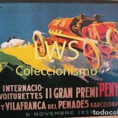 Coches y Motocicletas: CURSA INTERNACIONAL DE VOITURETTES II GRAN PREMI PENYA RHIN 1922 - PUBLICIDAD IMÁGENES - COCHES S-4. Lote 110863727