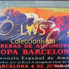 Coches y Motocicletas - CARRERA DE AUTOMÓVILES COPA BARCELONA 1911 - CAMPEONATO AMATEURS - PUBLICIDAD IMÁGENES - COCHES S-4 - 110863971