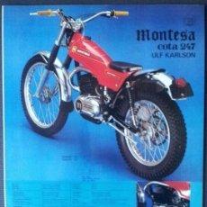 Coches y Motocicletas: FOLLETO (BROCHURE) MONTESA COTA 247 VUK. Lote 110898695