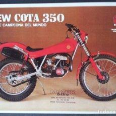 Coches y Motocicletas: FOLLETO (BOCHURE) MONTESA NEW COTA 350. Lote 110898987