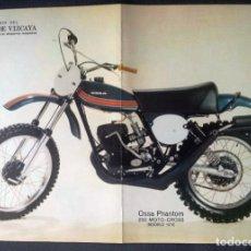 Coches y Motocicletas: CARTEL DIN A3 OSSA PHANTOM 250 - 1975. Lote 110934783