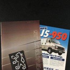 Coches y Motocicletas: FOLLETO CATALOGO PUBLICIDAD ORIGINAL PEUGEOT J5. Lote 110981311