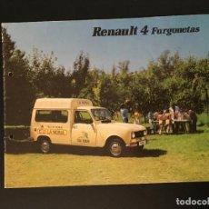 Automobili e Motociclette: FOLLETO CATALOGO PUBLICIDAD ORIGINAL RENAULT 4 FURGONETAS 1983. Lote 110986023