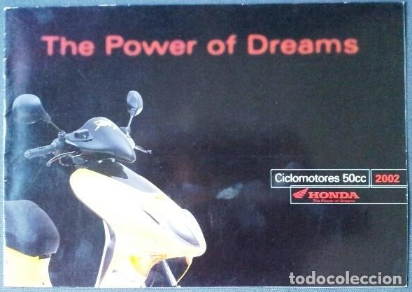 CATÁLOGO CICLOMOTORES HONDA - 2002 (Coches y Motocicletas Antiguas y Clásicas - Catálogos, Publicidad y Libros de mecánica)
