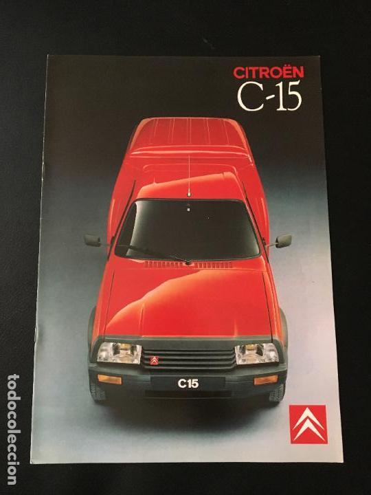 FOLLETO CATALOGO PUBLICIDAD ORIGINAL CITROEN C-15 1989 CITROËN C15 (Coches y Motocicletas Antiguas y Clásicas - Catálogos, Publicidad y Libros de mecánica)