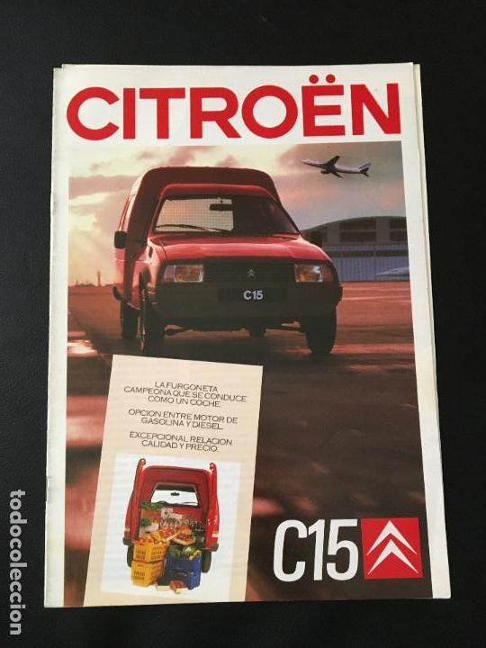 FOLLETO CATALOGO PUBLICIDAD ORIGINAL CITROEN C-15 1987 CITROËN C15 (Coches y Motocicletas Antiguas y Clásicas - Catálogos, Publicidad y Libros de mecánica)
