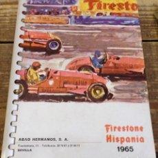 Coches y Motocicletas: AGENDA FIRESTONE.1965.FORMULA 1.CAMPEONATO.CARRERAS.RALLY.. Lote 111275379