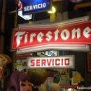 Coches y Motocicletas: FIRESTONE SERVICIO. ESPECTACULAR LETRERO LUMINOSO. ORIGINAL DE 1970S. PERFECTO ESTADO Y FUNCIONANDO. Lote 111461175