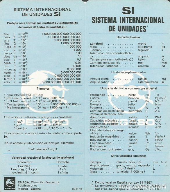 PEGASO FICHA SISTEMA DE UNIDADES (Coches y Motocicletas Antiguas y Clásicas - Catálogos, Publicidad y Libros de mecánica)
