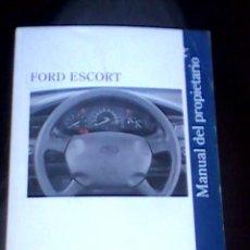 Coches y Motocicletas: FORD ESCORT MANUAL USUARIO ORIGINAL. AÑO 1996. EN ESPAÑOL. 140 PAGINAS.. Lote 111507667