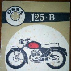 Coches y Motocicletas: MANUAL DE OSSA 125B. Lote 111534631