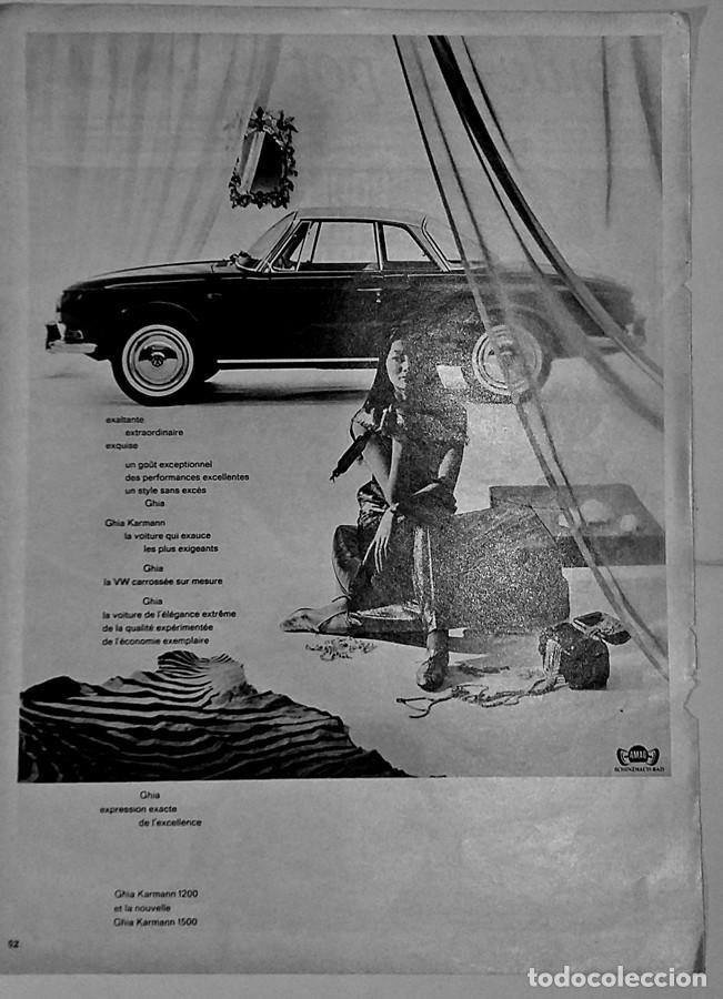 PUBLICIDAD VOLKSWAGEN KARMANN GUIA (Coches y Motocicletas Antiguas y Clásicas - Catálogos, Publicidad y Libros de mecánica)