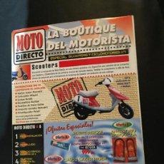 Coches y Motocicletas: FOLLETO CATALOGO PUBLICIDAD ORIGINAL MOTO DIRECTO SCOOTERS CICLOMOTORES. Lote 111798631