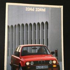 Coches y Motocicletas: FOLLETO CATALOGO PUBLICIDAD ORIGINAL BMW 324D 324TD 1988. Lote 111855087