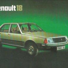 Coches y Motocicletas: RENAULT FASA 18 GTS 1978 CATÁLOGO 16 PÁGINAS ESPAÑOL. Lote 111959723
