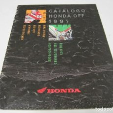 Coches y Motocicletas: MOTOS HONDA: FOLLETO COMERCIAL GAMA 1997. Lote 112020983