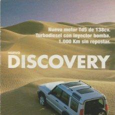 Coches y Motocicletas: HOJA PUBLICIDAD LAND ROVER DISCOVERY. Lote 112048667