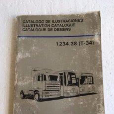 Coches y Motocicletas: LIBRO DESPIECE RECAMBIOS PEGASO 1234.38 T-34. DEL AÑO 1990. . Lote 112059843
