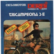 Coches y Motocicletas: (ALB-TC-13) FOLLETO CICLOMOTOR DERBI TRICAMPEONA S E 49 CC. Lote 112483091