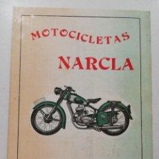 CATALOGO DIPTICO MOTOCICLETAS NARCLA, D'ALT GERONA, 1950's. MOTO ANTIGUA.