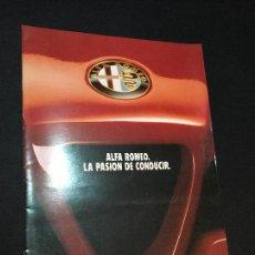 Coches y Motocicletas: FOLLETO CATALOGO PUBLICIDAD ORIGINAL ALFA ROMEO 1991. Lote 113007671