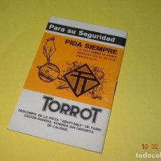 Antiguo Manual de Instrucciones del Ciclomotor TORROT Modelo CITY
